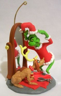 The Grinch & Max 2004 Hallmark Ornament Dr. Suess How th Grinch Stole Christmas