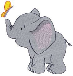 So precious!  Baby Elephant embroidery designs at Bunnycup Embroidery - http://www.bunnycup.com/viewset.aspx?designset=693