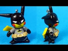 Pikachu Batman Polymer Clay Tutorial - YouTube. OH MY GOD @natalii9803