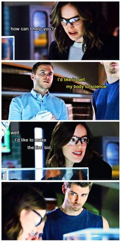 "Lincoln has only been there like two weeks and even he is like ""oh my gosh get a room"" Agents of Shield. From Tumblr"