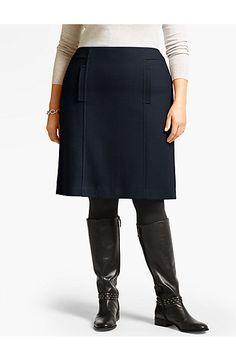 Wool-Blend A-Line Skirt - Talbots