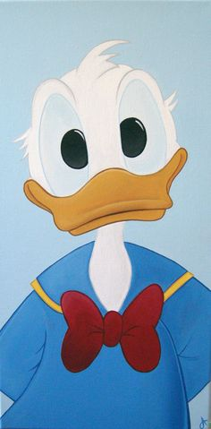 Original Artwork - Disney's Donald Duck Acrylic Painting - 12x24 inches