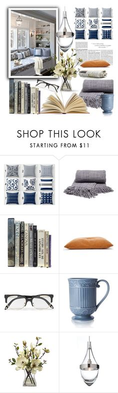 """My Place To Read"" by queenofsienna ❤ liked on Polyvore featuring interior, interiors, interior design, home, home decor, interior decorating, BCBGMAXAZRIA, Victoria Beckham, Mikasa and Prada"