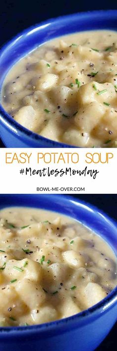 What to make for dinner? Easy Potato Soup - Everyone's favorite (vegetarian) potato soup. Creamy, delicious and hearty!