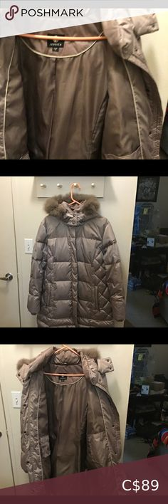 Coat Jessica size 18,puffer/hood, fox fur This Coat ladies is in excellent condition,wore once,fox fur,down size XL regular snaps and zipper front,hood fox fur down filled 70% 30% water fowl Jessica Simpson Jackets & Coats Puffers Coats For Women, Jackets For Women, Black Winter Coat, Black Puffer, Fox Fur, Winter Jackets, Leather Jacket, Zipper, Lady