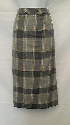 Pendleton NEW Ladies Size 10 Virgin Wool Plaid Mid-Calf Length Fully Lined Skirt