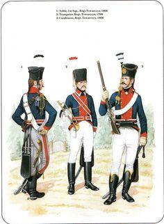 Prussian Cavalry of the Napoleonic Wars (1) 1792-1807 1-Noble,1st Sergeant Regt Towarczys 1806 2-Trumpeter, Regt Towarczys 1799 3-Carabineer, Regt Towarczys 1806