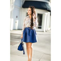 Delicate Flare Butterfly print Striped flare skirt ❤ liked on Polyvore featuring skirts, evening skirts, flare skirt, striped flare skirt, butterfly skirt and flared skater skirt