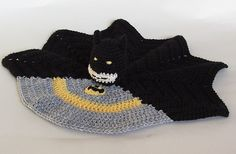 Ravelry: Batman Security Blanket pattern by Susan Cowper