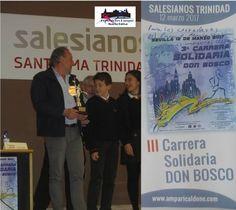 """Fermín Cacho presenta la """"III Carrera Don Bosco""""."""