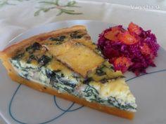 Quiche s tekvicovým cestom (fotorecept) - Recept Quiche, Spanakopita, Pizza, Ale, Meat, Chicken, Breakfast, Ethnic Recipes, Food