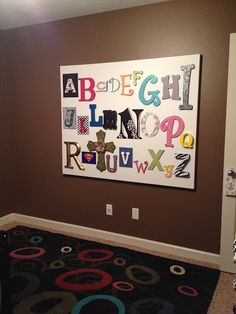 @ Kathy Bidwell- I would like this painted on a canvas instead of the actual letters. I like the different detail on the letters.