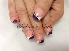A touch of purple by ChelseasNails - Nail Art Gallery nailartgallery.nailsmag.com by Nails Magazine www.nailsmag.com #nailart