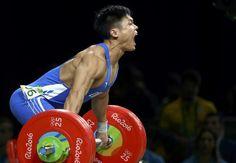 OLYMPICS-RIO-WEIGHTLIFTING-M-77KG 2016 Rio Olympics - Weightlifting - Final - Men's 77kg - Riocentro - Pavilion 2 - Rio de Janeiro, Brazil - 10/08/2016. Lu Xiaojun (CHN) of China competes. REUTERS/Yves Herman