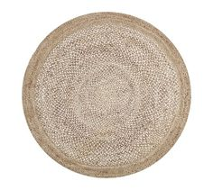 BREAKFAST NOOK RUG - Border Round Jute Rug - Sand | Pottery Barn - Favorite Rug for B-Nook