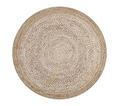 BREAKFAST NOOK RUG - Border Round Jute Rug - Sand   Pottery Barn - Favorite Rug for B-Nook