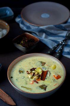 Nei Masal Kuzhambu - Medley of veggies in a coconut and poppy seeds paste and flavoured with cardamoms fried in ghee. #glutenfree #kuzhambu #vegetables