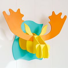 Create a whimsical wall decoration. Download free rhinoceros, moose, and unicorn patterns to then easily jigsaw and assemble.