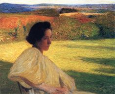 "urgetocreate: ""Henri Martin - Meditation - 1896 """