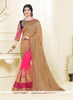 Ayesha Takia Hot Pink Classic Designer Saree Model: YOSAR6971