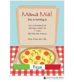 Mama Mia! Pizza Party Invitation