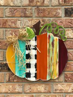 Excited to share this item from my shop: Pumpkin door hanger, fall door hanger, thanksgiving door hanger, rustic fall door hanger, fall decor Fall Wood Crafts, Thanksgiving Crafts, Holiday Crafts, Diy Crafts, Wooden Pumpkin Crafts, Pallet Pumpkin, Rustic Thanksgiving, Fall Pumpkin Crafts, Pumpkin Snowmen
