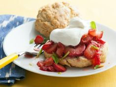 Classic Strawberry Shortcake: These classic shortcakes made with not-too-sweet biscuits are a great way to kick off strawberry season.