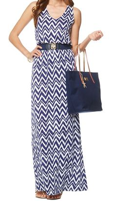 Lilly Pulitzer Mills Racerback Maxi Dress in Get Your Chev On