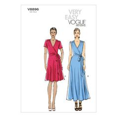 Mccall Pattern V8896 16-18-20-2-Vogue Pattern