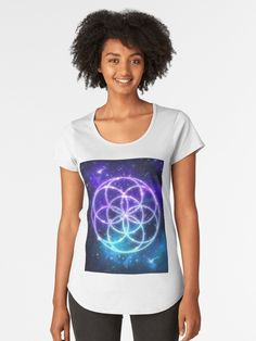 An updated version of the Seed of Life sacred geometry Buy Seeds, Seed Of Life, Galaxy Art, Types Of Art, Sacred Geometry, Sell Your Art, Tshirt Colors, Classic T Shirts, Shirt Designs