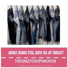 HOT PRICE! Jeans for Women ONLY $15, Kids ONLY $6 at Target (thru 8/19)