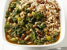 Vegetable Gumbo (not), but black eyed peas and greens in a roux-based broth