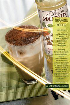Heerlijk recept voor een tiramisu koffie met Monin amaretto siroop