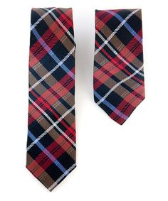 Should I do it! $24.99-Take a look at this Red Plaid Daddy & Me Tie Set by Diaper Dude on #zulily today!