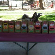 Sesame street 1st Birthday Party! Goodie bags