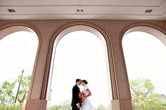 Newport Beach Temple...through the columns
