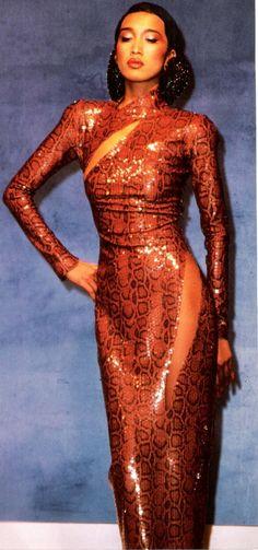 1983 - Thierry Mugler show snake dress