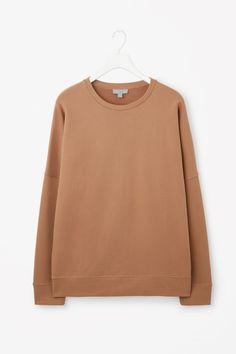 COS image 9 of Oversized sweatshirt in Tan