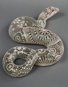 Joana Vasconcelos - Art Installation - Crochet Snake