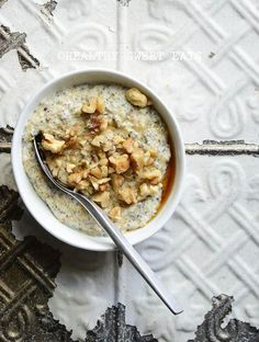 My Favorite Noatmeal (aka Low-Carb Oat-Free Porridge): The Basic Recipe and 6 Variations | Healthy Sweet Eats