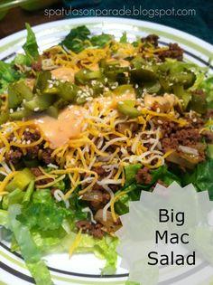 Big Mac salad, copycat fast food, quick easy supper ideas