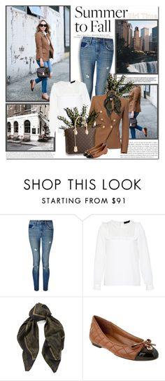 """Summer to Fall Layering"" by lilly-2711 ❤ liked on Polyvore featuring H&M, Levi's, Hallhuber, Balmain, Louis Vuitton, Roberto Cavalli and French Sole FS/NY"
