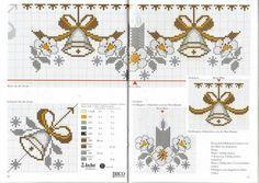 Gráficos de ponto cruz de Natal com sinos!                              …                                                                                                                                                     Mais