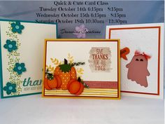 October 2014 Quick and Cute Class