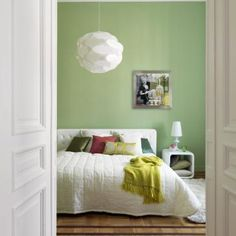 Bedroom - citrus and white My Dream, New Homes, Calm, Houses, Interiors, Dreams, Bedroom, Furniture, Home Decor