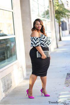 Women S Plus Size Knee Length Dresses Big Girl Fashion, Black Women Fashion, Curvy Fashion, Plus Size Fashion, Fashion Models, Womens Fashion, Plus Size Dresses, Plus Size Outfits, Plus Size Womens Clothing