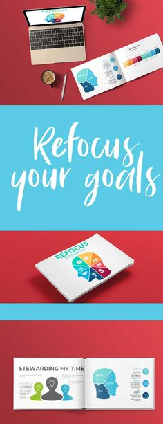The Refocus Workbook helps scatterbrains reevaluate their time management, goals, dreams, and plans. Leadership Goals, Starting A Book, Household Tips, Simple Living, Getting Things Done, Time Management, Family Life, No Time For Me, Personal Development