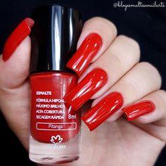 Natura Cosmetics, Long Red Nails, Red Dragon, Perfect Nails, Pretty Nails, Nail Colors, Hair Beauty, Lipstick, Double Team