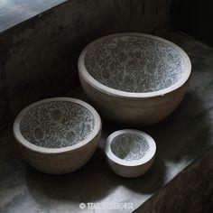Teak Warehouse   Floral Lined Bowl