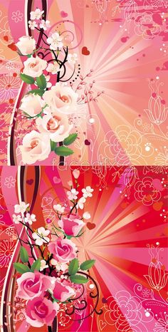 Colorful Spring Flower 1 Vector